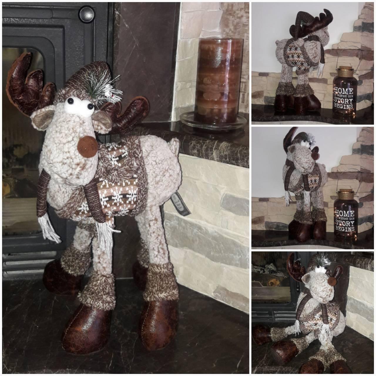 Скандинавский милый олень, ручная работа, выс. 40 см., 800/700 (цена за 1 шт. + 100 гр.)