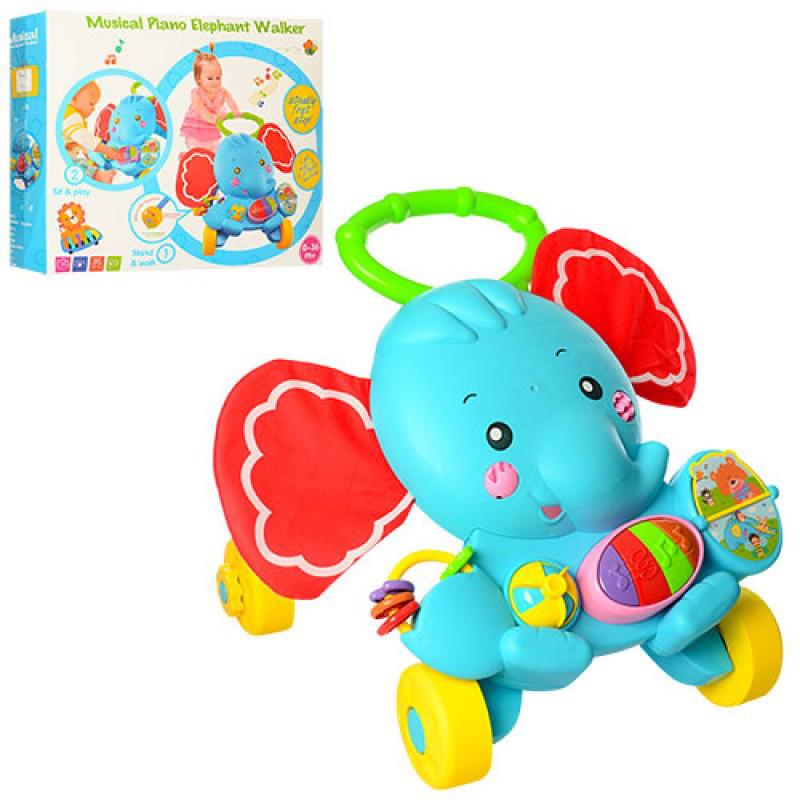 Каталка-ходунки для дитини з музичними та світловими ефектами S919 c брязкальцями