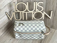 Косметичка барсетка клатч Louis Vuitton реплика LV white