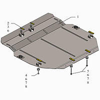 Kolchuga Защита двигателя и КПП на Honda CR-V IV '15-16 (V-1,6D; 2,4i) Standart
