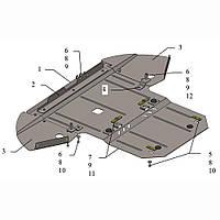 Kolchuga Защита двигателя, КПП и радиатора на Audi A8 D3 '02-09 Standart