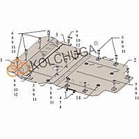 Kolchuga Защита двигателя, КПП и радиатора на Audi A8 D4 L '10-17 Standart
