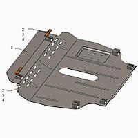 Kolchuga Защита двигателя, КПП и радиатора на Geely Emgrand X7 '11- Standart