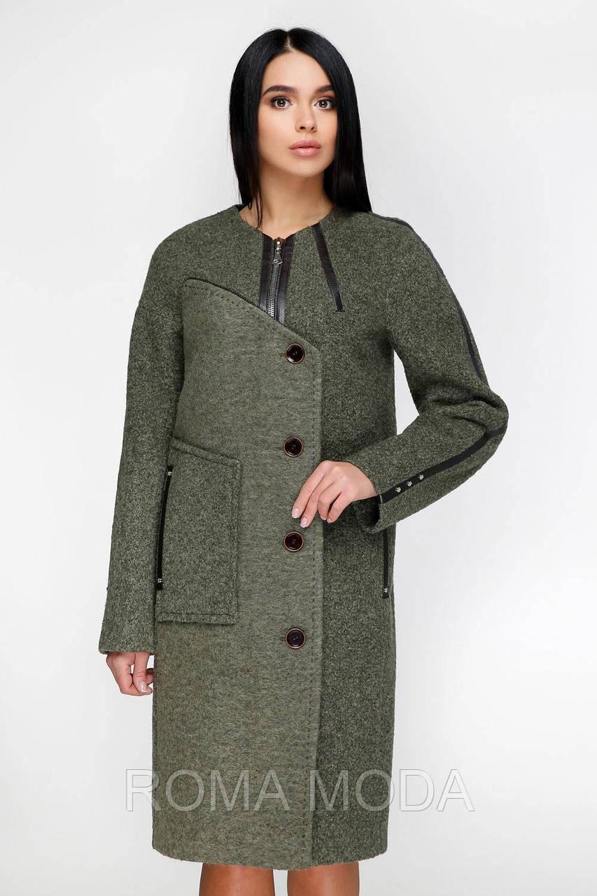 Женское демисезонное пальто В-1154 Mol 44-62 размеры
