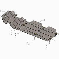 Kolchuga Защита двигателя, КПП, радиатора, раздатки и редуктора на Great Wall Wingle 6 '16- (V-2,4) Standart