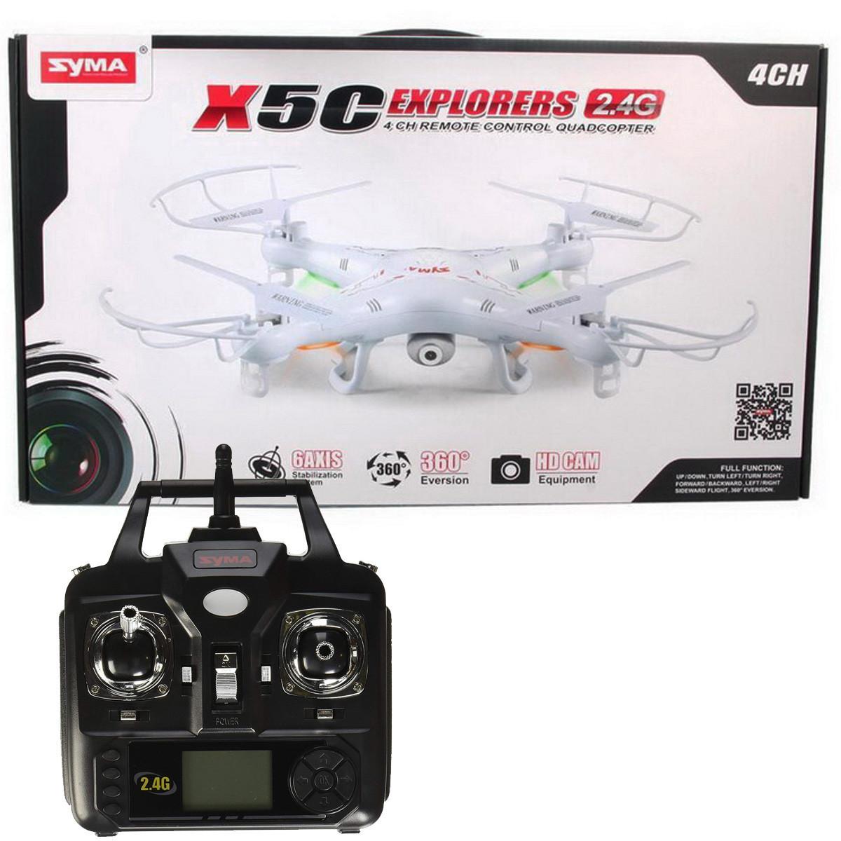 Квадрокоптер Syma X5C Explorers р/у c HD камерой Дрон оригинал Сима