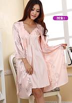 Комплект из сорочки и халата, фото 3