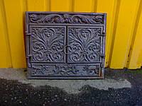✅ Портал чугунный на камин с дверями фасадными 560 х 660 мм