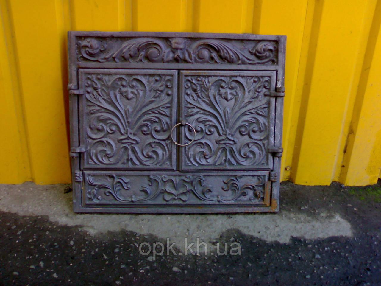 ✅ Портал чугунный на камин с дверями фасадными 560 х 660 мм - ТОВ О.П.К. Компанi в Харькове