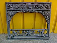 Портал чугунный каминный 58см-66см фасад