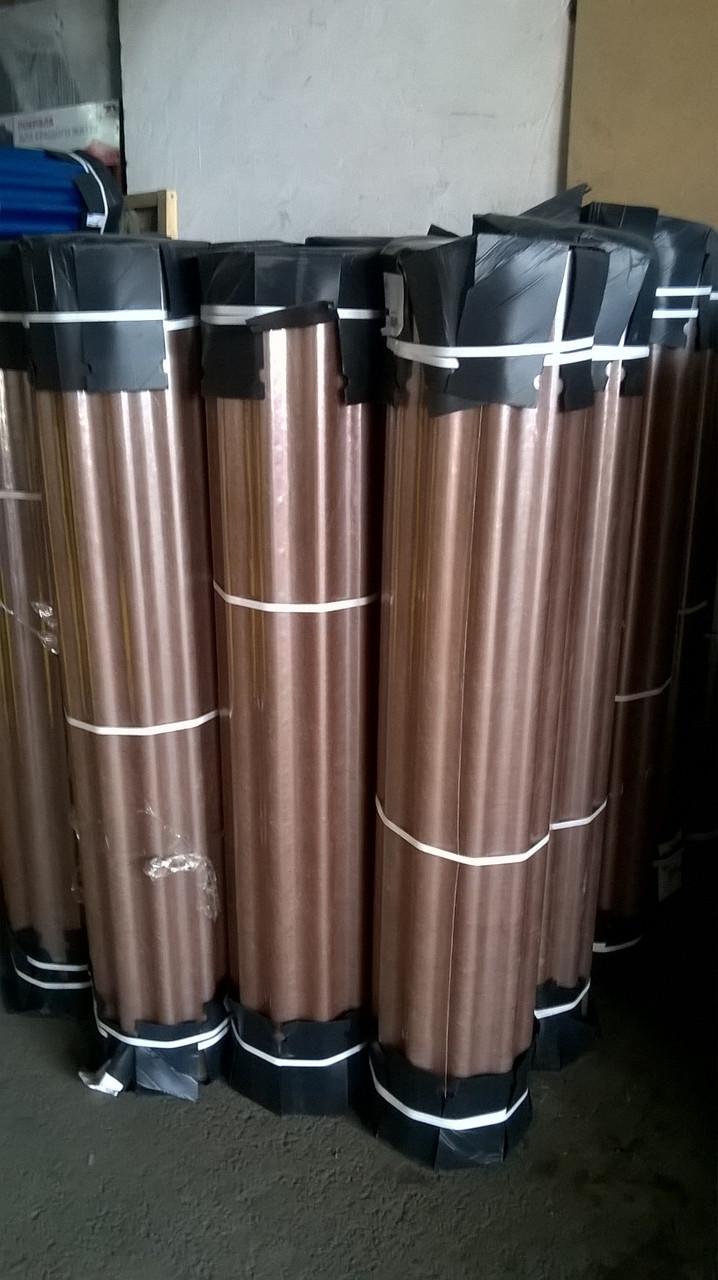 Шифер армированный стекловолокном прозрачный в рулонах, Бронза