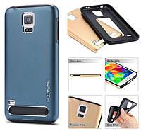 Чехол металлический Motomo Samsung A8 синий