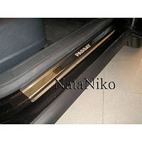 NataNiko Накладки на пороги для VOLKSWAGEN Passat CC I '08-16 (Комплект 4 шт.) Standart