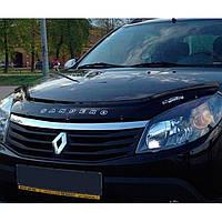 """VipTuning Dacia Sandero I '07-12 Дефлектор капота """"мухобойка"""""""