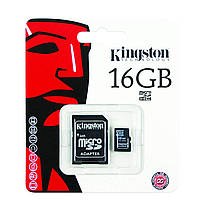 Карта памяти Kingston micro SDHC 16GB class 10+SD