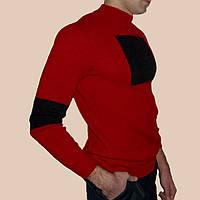 Вязаный мужской свитер с черным квадратом