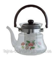 Чайник заварник скляний 1200мл 1045