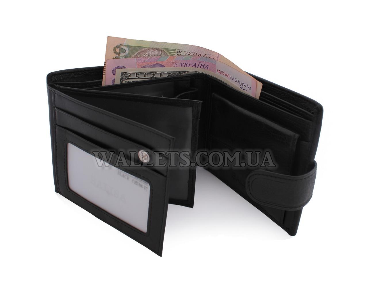 Кошелек мужской кожаный BALISA, черный, лопатник - Интернет-магазин «Wallets» в Белой Церкви