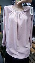 Женская трикотажная блуза Жемчуг, фото 2