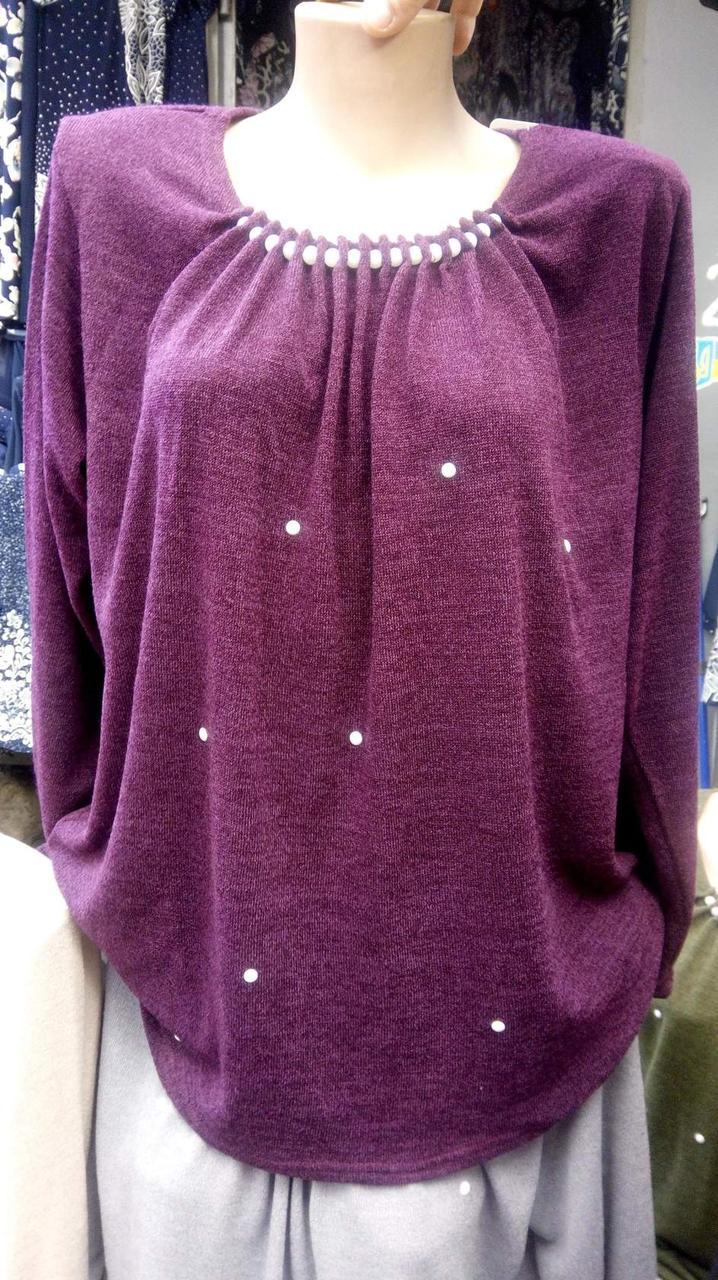 Женская трикотажная блуза Жемчуг