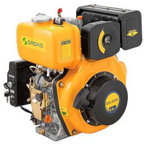 Дизельный двигатель с электростартером Sadko DE-300E (шпонка 6 л.с.)