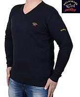 Модный мужской свитер с V-образным вырезом