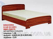 Кровать К-140 Классика МДФ  140х200 800х1480х2030мм  Абсолют, фото 2