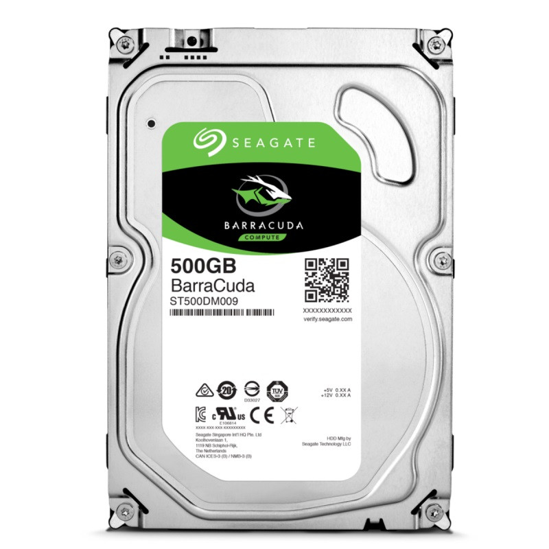 Жесткий диск 3.5' 500Gb Seagate BarraCuda, SATA3, 32Mb, 7200 rpm (ST500DM009)