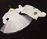 072a6d0d927 Платье нарядное с болеро на девочку 9-18 месяцев Серии