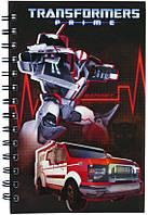 Блокнот А5 (80 листов, пластик, спираль) KITE 2013 Transformers 225 (TF13-225K)