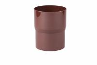 Соединитель трубы Profil Д=100мм, цвет коричневый