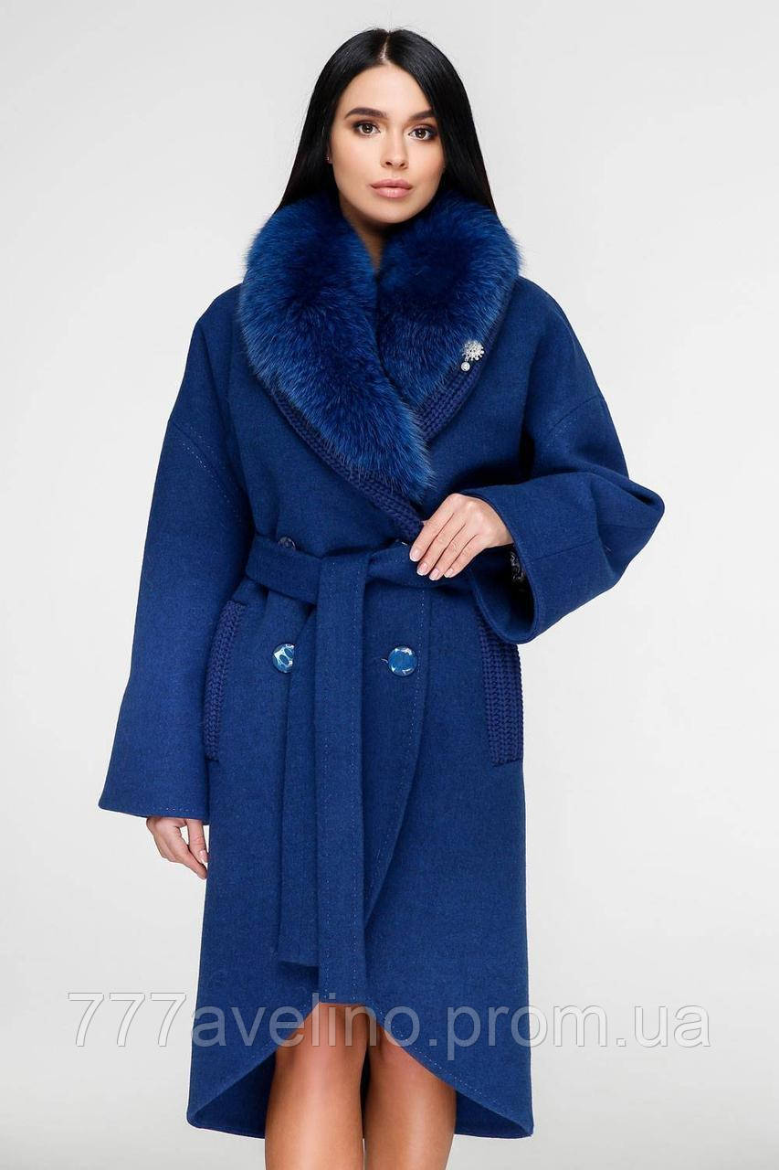 Женское зимнее пальто с натуральным мехом