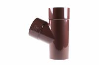 Тройник трубы Profil Д=100мм/100мм/60 градусов, цвет коричневый