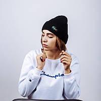 Женская зимняя шапка в стиле Lacoste | Топ качество!