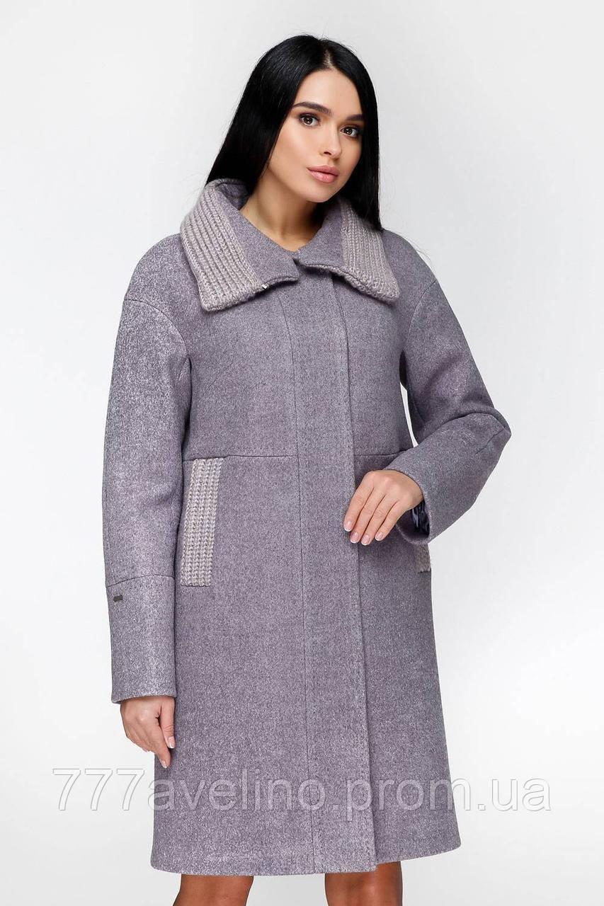 Женское зимнее пальто стильное шерстяное