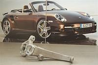 Кулак поворотный передний, цапфа передняя LH (левая) Porsche Panamera |Порше Панамера | 97034115704
