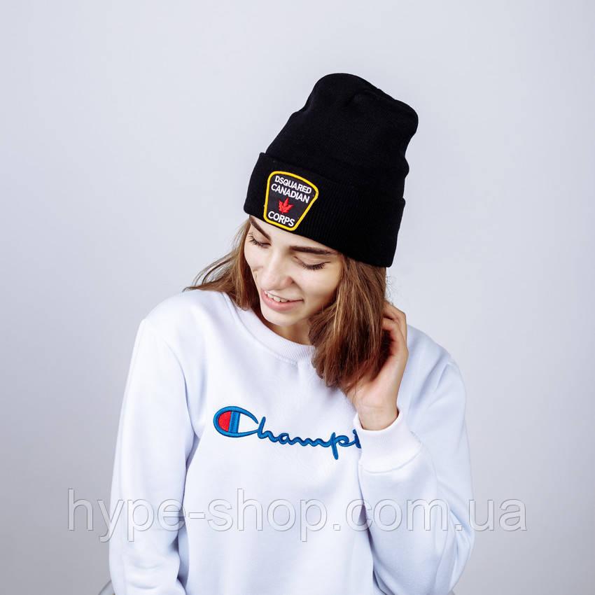 Женская зимняя шапка в стиле Dsquared | Топ качество!