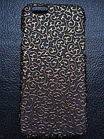 """Чехол черный """"Узор"""" с золотом для Iphone 6 6S, фото 1"""