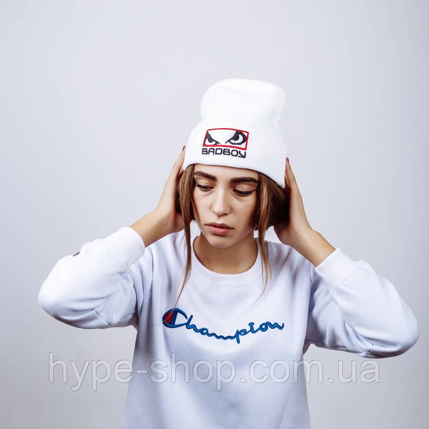 Женская зимняя шапка в стиле Bad Boy | Топ качество!