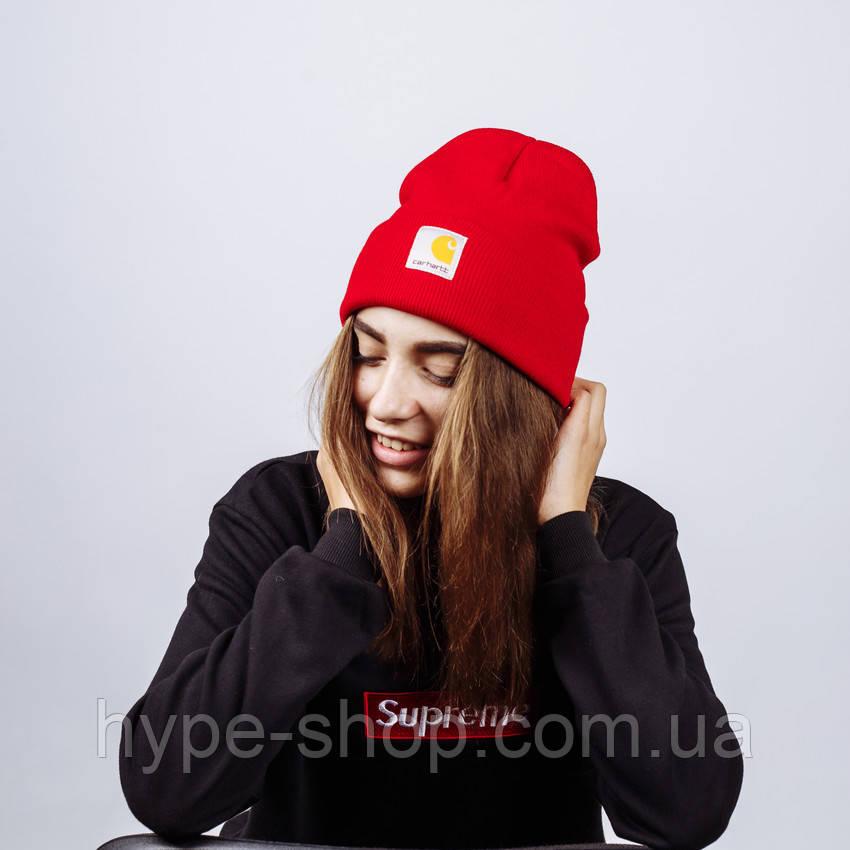 Женская зимняя шапка в стиле Carhartt   Топ качество!