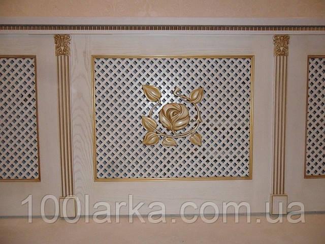 Решетки деревянные, экраны декоративные на батареи отопления., фото 1