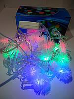 ГирляндаLED снежок  цветная 100 лампочек