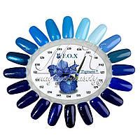"""Палитра гель-лаков F.O.X. """"Pigment"""", 6ml синие цветочные оттенки"""