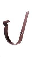 Держатель желоба Profil Д=130мм металл длинный, цвет коричневый