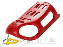 Сани, металлические салазки 100 кг  LITTLE SEAL - красный