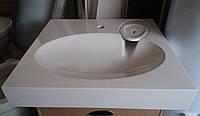 Раковина над стиральной машиной Claro 60х60 см (камень) белая