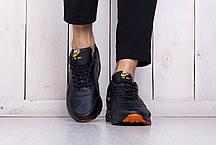 Мужские стильные кроссовки Nike Air Max 1 Just Do It черные топ-реплика, фото 2