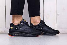 Мужские стильные кроссовки Nike Air Max 1 Just Do It черные топ-реплика, фото 3