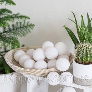 """Тайська гірлянда """"White"""" (20 кульок) петля"""