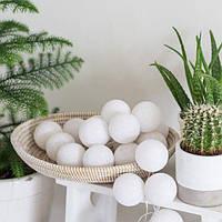 "Тайская гирлянда ""White"" (35 шариков) петля, фото 1"